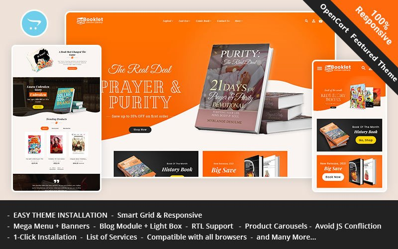 Booklet - OpenCart Theme for Online Book Store