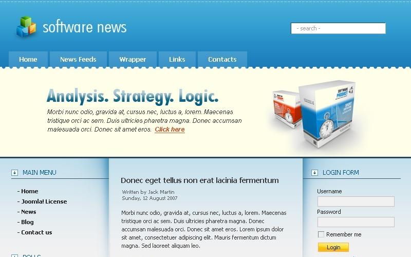 Software Joomla Template
