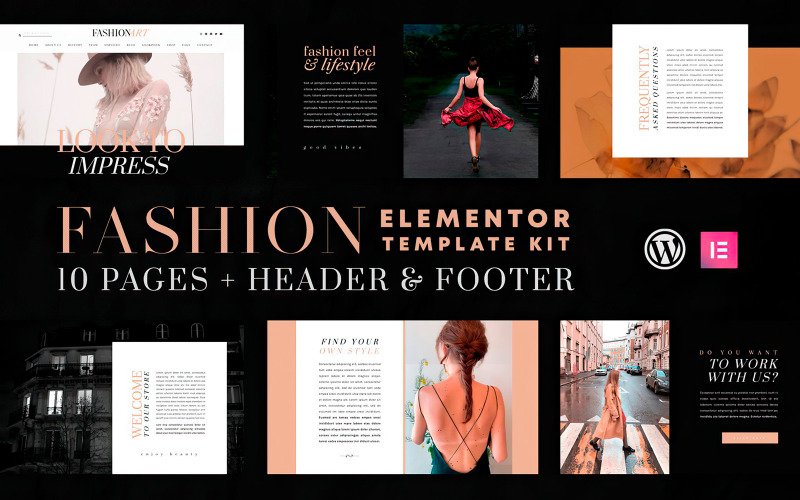 Fashion Art - Elementor Template Kit - WooCommerce Compatible