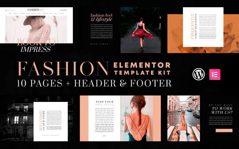 Искусство моды - Набор шаблонов Elementor - Совместимость с WooCommerce