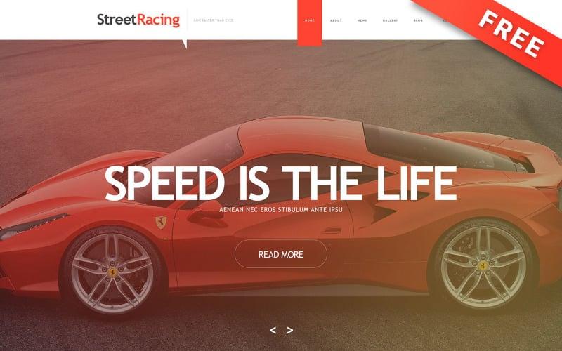 Street Racing - Free Car Racing Parallax Muse Template