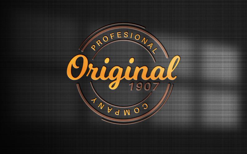 Logo na černém papíře - maketa grafické ilustrace
