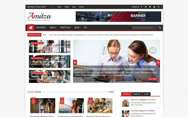 Шаблон Joomla для новостей и журнала Amitza