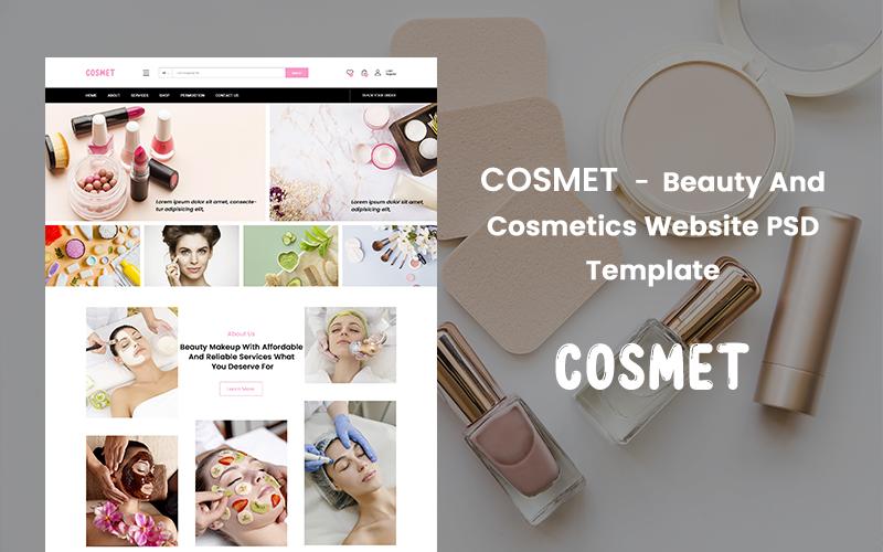 PSD шаблон сайта о красоте и косметике