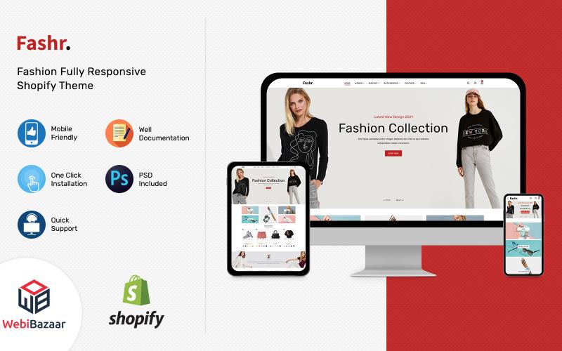 Fashr - Moderne mode Shopify-sjabloon