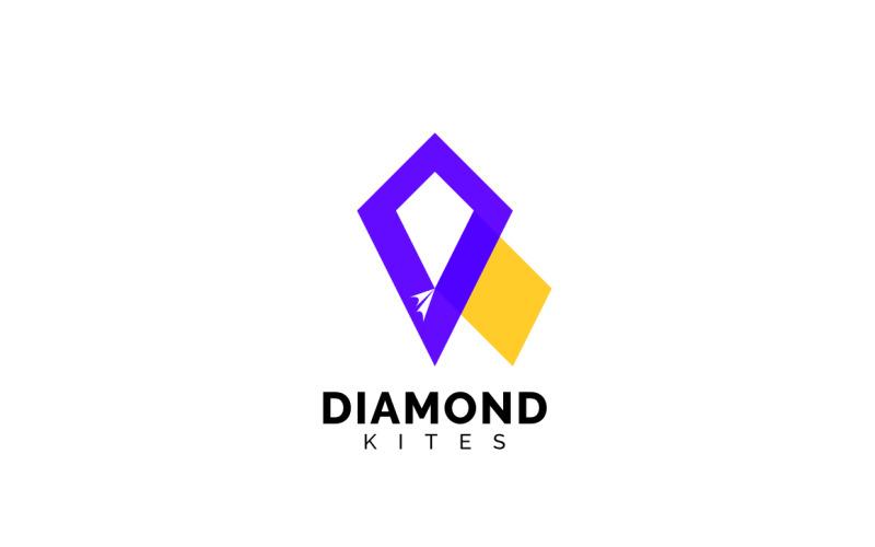 Diamond Kites - leuke ontwerpsjabloon voor logo