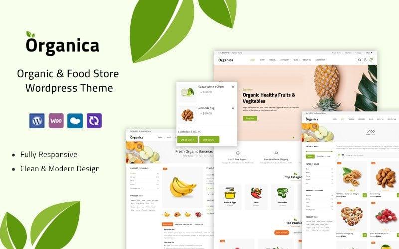 Organica - 食品和杂货店 WooCommerce 主题