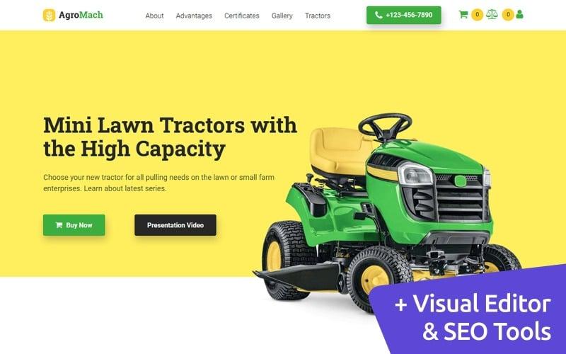 Organic Farm Moto CMS Ecommerce Website Template