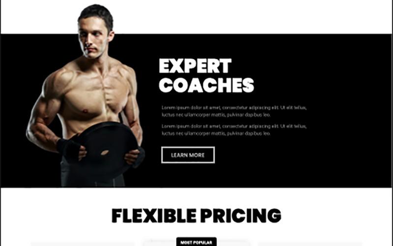 Тренажерный зал Build Your Body Strong Elementor Kit