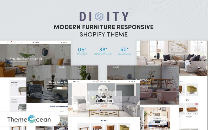 Dinity - Responsives Shopify Theme für moderne Möbel