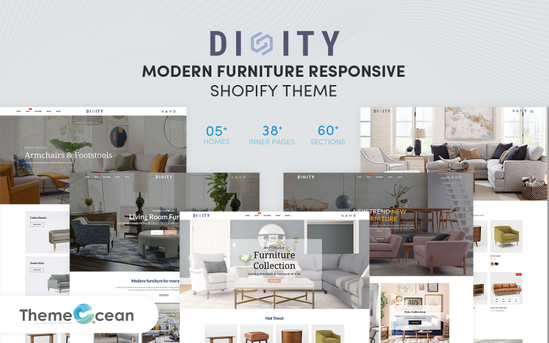 Dinity - 现代家具响应式 Shopify 主题