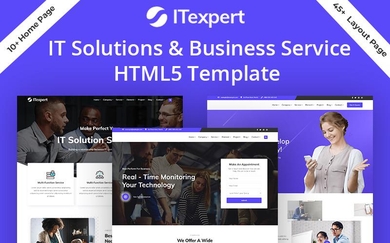 IT专家IT解决方案业务服务HTML5网站模板