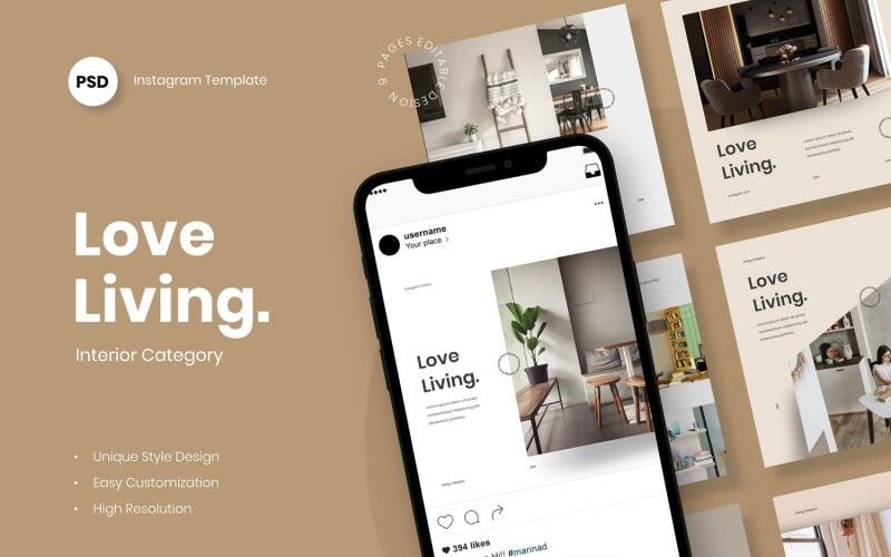 Love Living Instagram Post Template Social Media