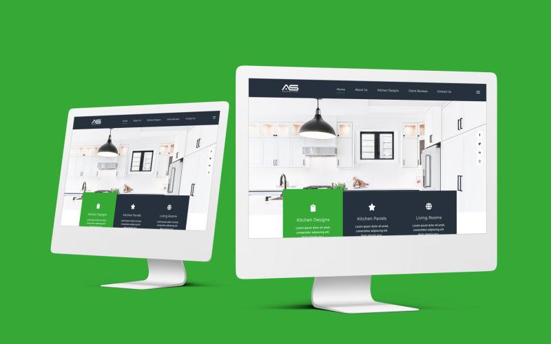 Абусаед   HTML5 шаблон целевой страницы интерьера кухни