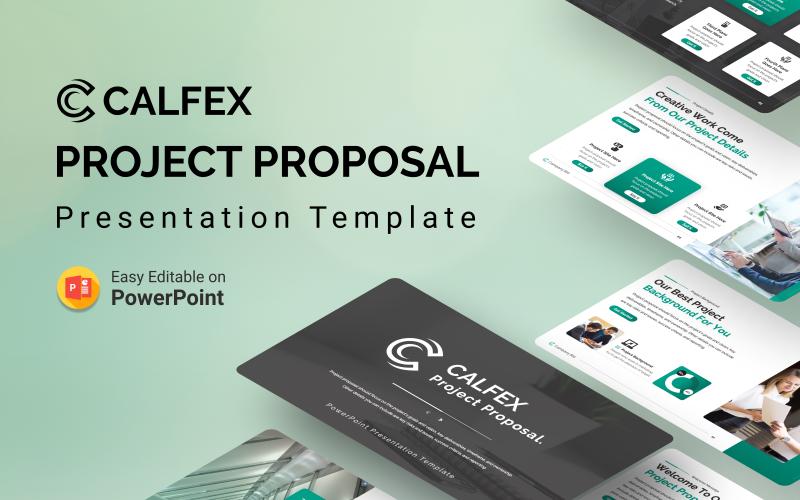Calfex - modelo de apresentação de PowerPoint de proposta de projeto