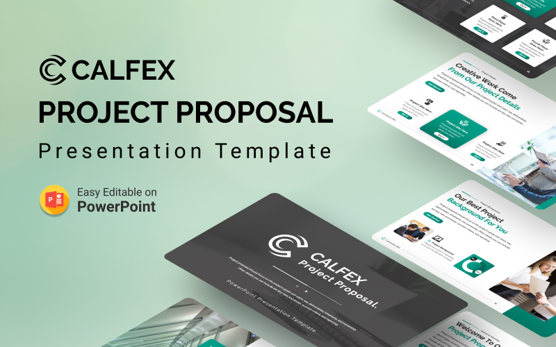 Calfex - Plantilla de presentación de PowerPoint de propuesta de proyecto