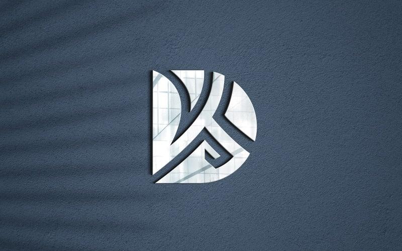 Fotorealistyczna makieta logo 3d