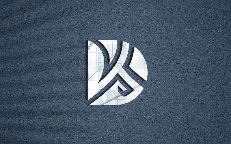 Maquete fotorrealista de logotipo em 3D
