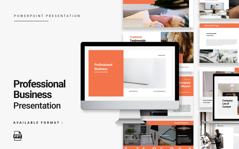 Minimalistische professionelle Business-PowerPoint-Vorlage