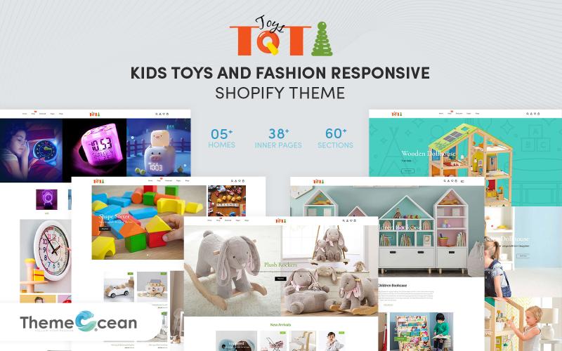 Toti - Responsive Shopify Theme für Kinderspielzeug und Mode