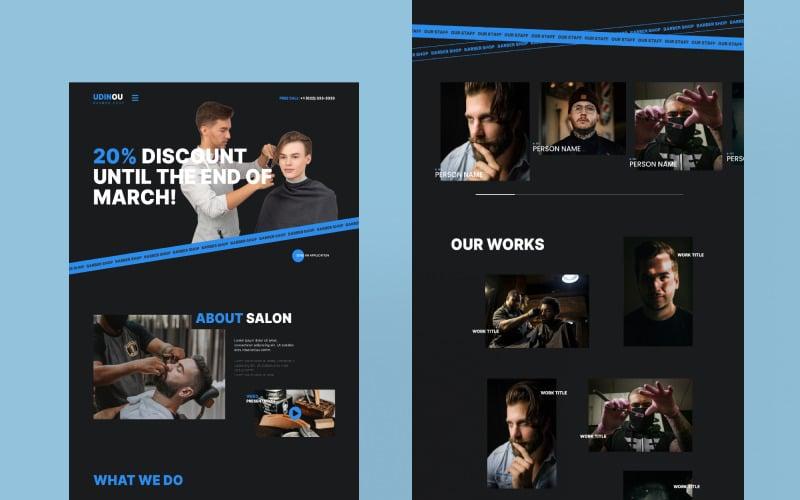 Udinou - Barbershop Html Landing Page Template