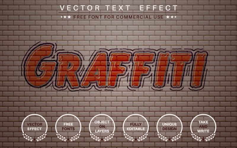 Graffity - upravitelný textový efekt, styl písma, grafické znázornění