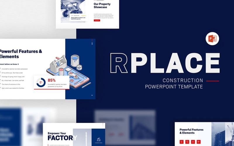 Modèle PowerPoint moderne de construction RPLACE