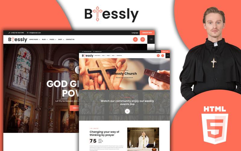 Blessed - Modèle HTML5 d'église et de don