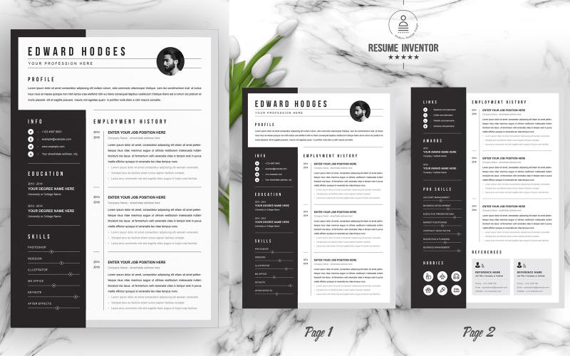 Edward /  CV Template Printable Resume Templates