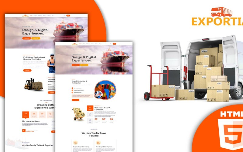 Expotia - 运输和物流 Html 模板