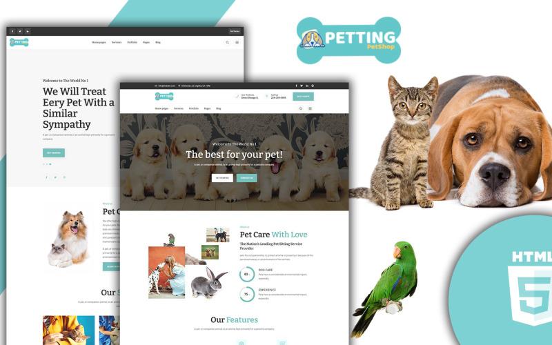 HTML-шаблон Petting - Уход за домашними животными
