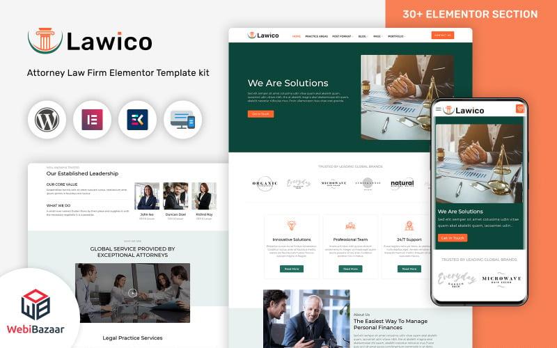 Lawico - 法律律师和律师 WordPress 主题