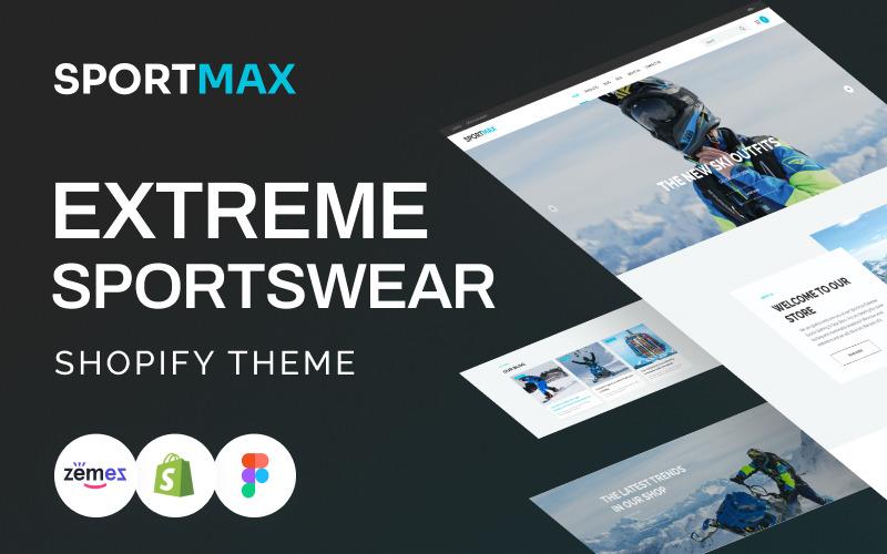 SportMax - Thème Shopify pour vêtements de sport extrême réactifs