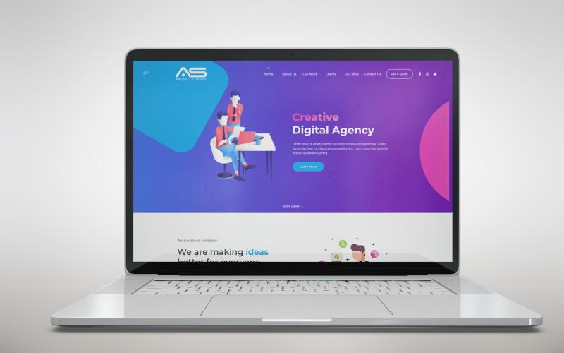 Шуво | HTML5 шаблон целевой страницы агентства