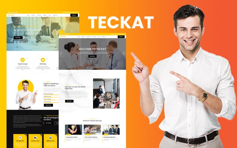 泰卡特  商业 HTML 5 网站模板