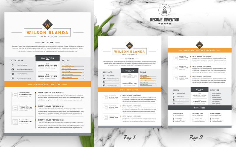 Wilson / Plantillas de CV imprimibles