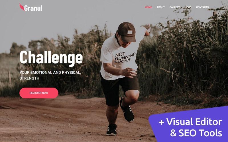 运动队 Moto CMS 3 网站模板