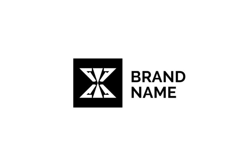 X-kleding - sjabloon met zwart logo