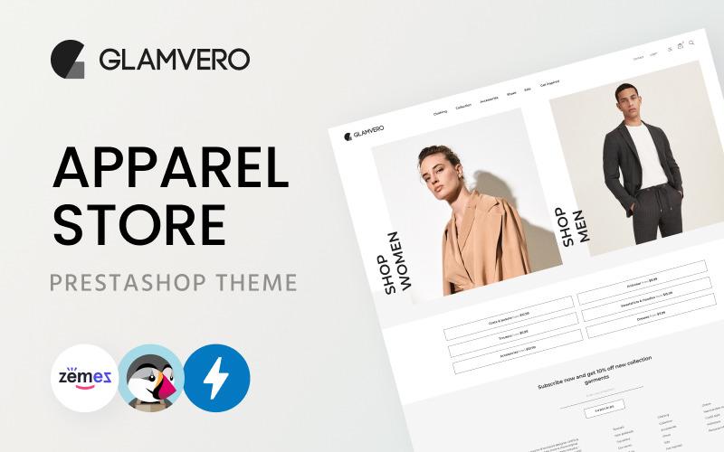 GlamVero - Clean Apparel Store PrestaShop-thema