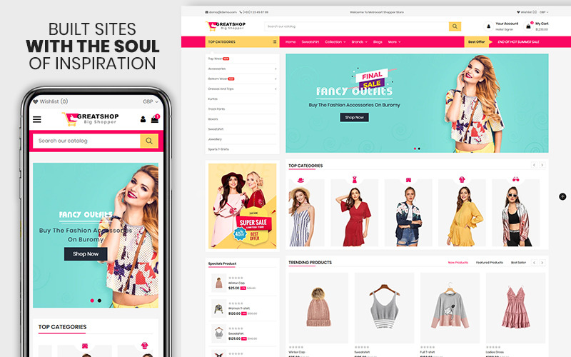 Greatshop - 服装和时尚高级 Shopify 主题