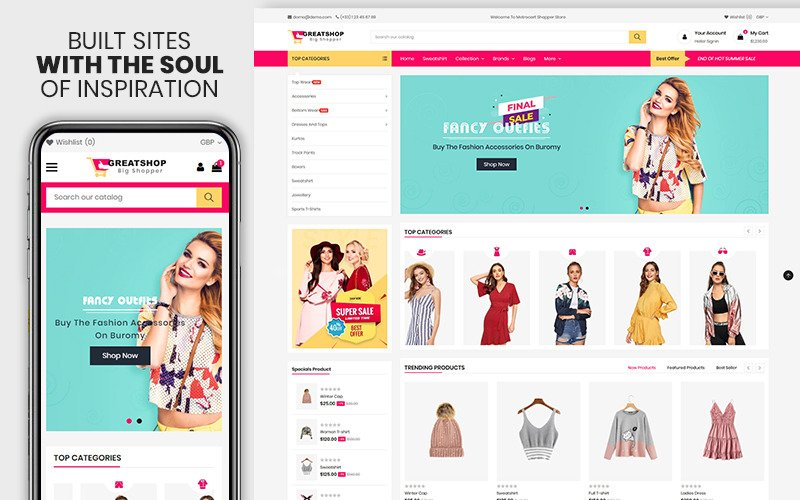 Greatshop - Премиум-тема Shopify для одежды и моды