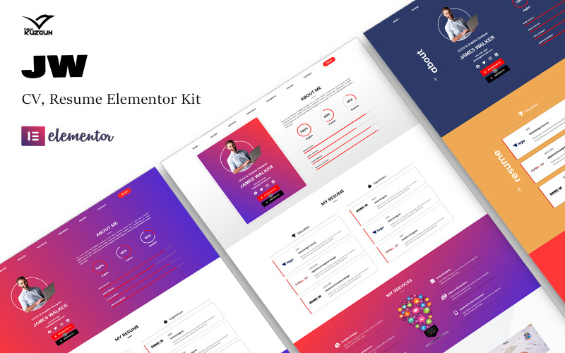 JW CV Lebenslauf Elementor Kit