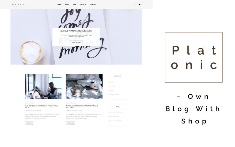 Platonic - Propre blog avec un thème WordPress polyvalent