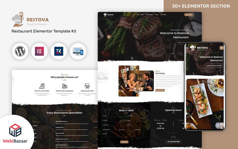 Restova - Responsives Wordpress-Theme für Fast Food & Restaurant