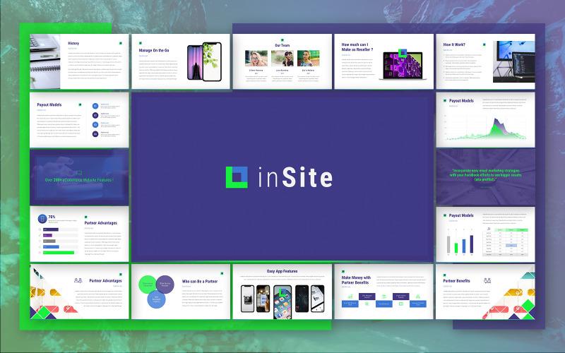Šablona aplikace InSite Powerpoint
