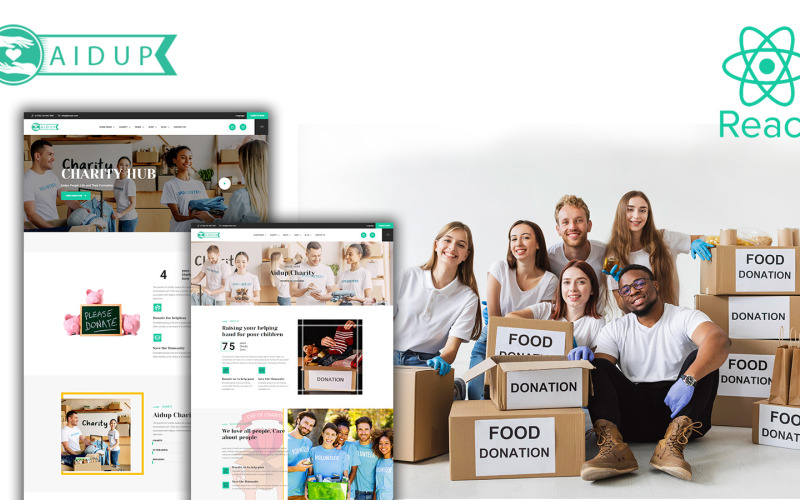 Aidup - Charity React 网站模板