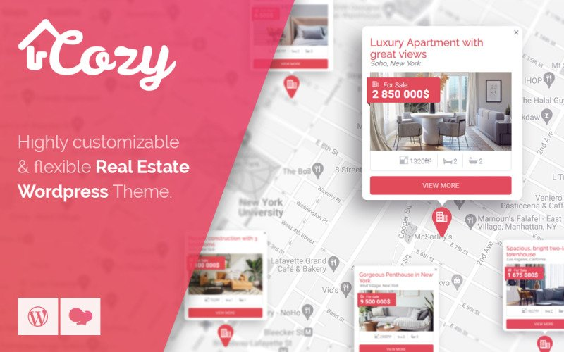 Cozy - Real Estate WordPress Theme