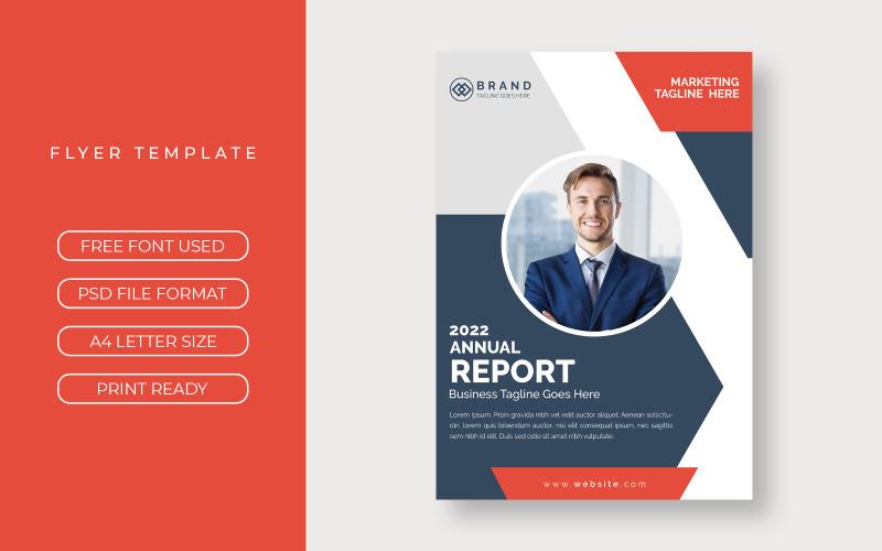 Zakelijke jaarlijkse flyer-rapportomslag presentatie-indeling