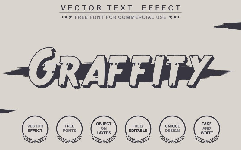 Dark Graffiti - upravitelný textový efekt, styl písma, grafické znázornění