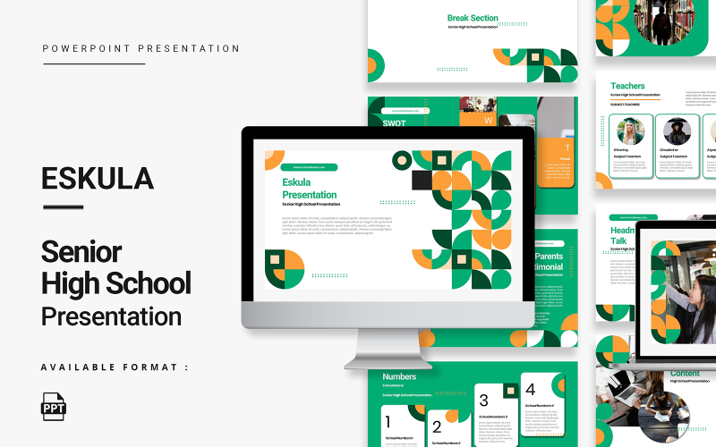Eskula - Fresh and Friendly Senior High School Presentation PowerPoint Template